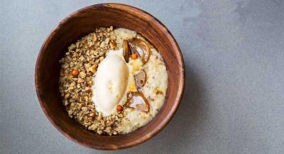 Bone marrow and truffle porridge goes on the menu at Rude Health in Fulham