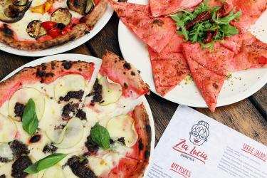 Holloway's Zia Lucia supports Breast Cancer awareness with pink pizza