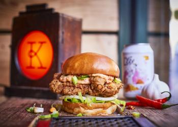Kricket and Honest Burgers create a Keralan Fried Chicken burger