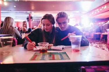 Hot dogs meet bingo with Popdogs at Camden's Social Bingo Academy