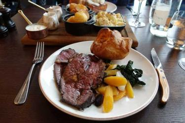 Sky high Sunday roast - we Test Drive Aviary on Finsbury Square