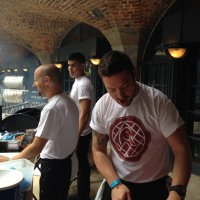 Dan Doherty at the Duck and Waffle stand