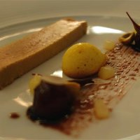 Terrine of goose liver, red port, pears and almond cake