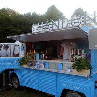 The Moet & Chandon van