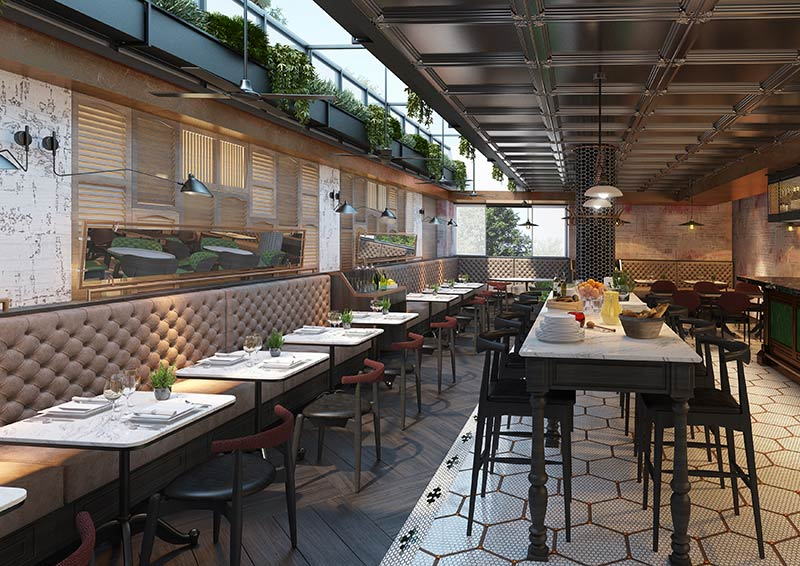 The Mediterranean Vintry Kitchen and the Mercer Roof Terrace