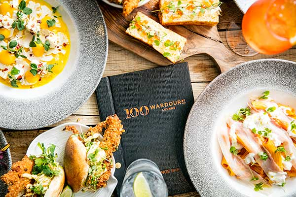 Try the new menu at 100 Wardour Street with our 50% off deal