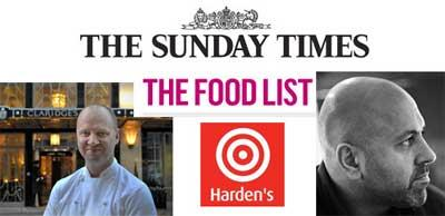The Ledbury and Rasoi make the Top 10 in this year's Sunday Times Restaurant List