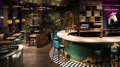Journey is a globe-trotting immersive restaurant from the people behind the Breaking Bad bar (complete with Champagne puking unicorn)