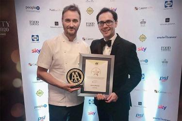 Jason Atherton and Michael Caines win big at this year's AA Hospitality Awards