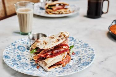 Dishoom supersize their breakfast with a Double Bacon Naan