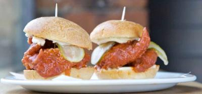 Nashville hot sliders are new to the menu at Bird