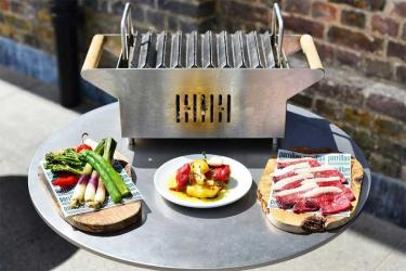 Parrillan is the DIY outside grill at Barrafina Coal Drops Yard in King's Cross