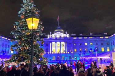 Fortnum's and Baileys are back at Skate at Somerset House with fondue, mulled cider, shopping and more