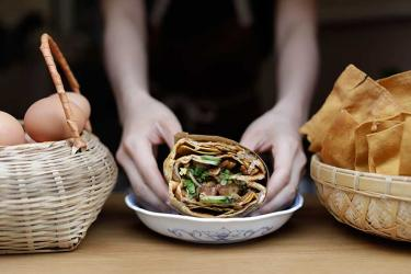 Pleasant Lady are bringing their jian bing trading stall to Spitalfields