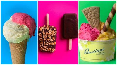 Badiani gelato open their new ice-cream parlour on the Fulham Road