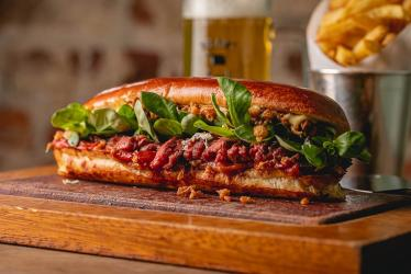 Flat Iron launches their ultimate steak sandwich