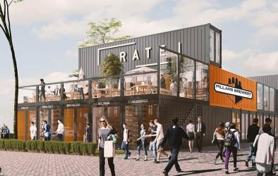 Crate is a new container village in Walthamstow - with Baggio Burger, Italian Baker and more