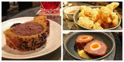 Venison sausage rolls and rotisserie veg - we Test Drive the bar snack menu at Tom Kerridge's Bar and Grill