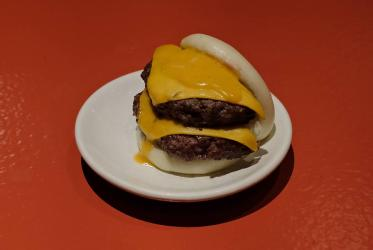 Bleecker and BAO team up for a double-cheeseburger bao