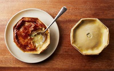 The Marksman in Hackney offers delivery and takeaway pies and provisions