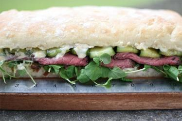 Street Kitchen settles down on Broadgate Circle, selling sandwiches by the inch