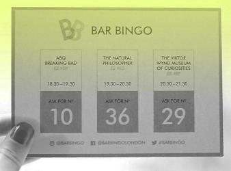 Bar Bingo aims to offer London's coolest bar crawl