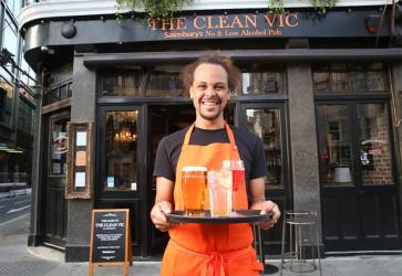The Clean Vic is Sainsbury's low/no alcohol pub pop-up