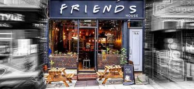 A Friends themed cafe has opened in Hornsey and it's playing the show on a loop