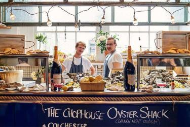 Head down to The Oyster Shack at Butler's Wharf Chop House for oysters and Nyetimber