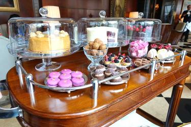 The Beaumont afternoon tea has a cake trolley to die for