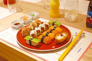 123V is Fenwick's vegan restaurant from Alexis Gauthier with its own vegan sushi counter