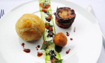 The Cochonette boules special on the menu this week at Angelus