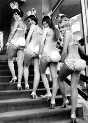 Hugh Hefner returns to London to open Playboy Club in Mayfair