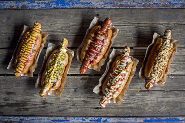 Oh My Dog! bring their new vegan hot dog range to Peckham's Old Nun's Head