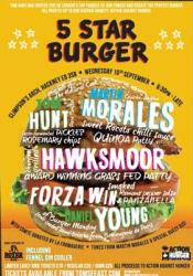 Tickets on sale for 5 Star Burger in aid of Action Against Hunger