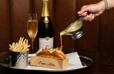 Burger and Lobster pimp up their lobster roll with Champagne sauce