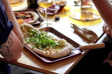 Flat Earth pizza at The Hive in Cambridge Heath is an ultra local, low waste pizza residency
