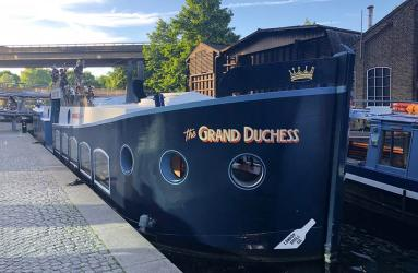 All aboard - we embark on The Grand Duchess for Cornish seafood and sparkling wine at Paddington