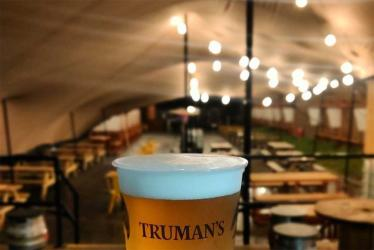 Truman's Social Club in Walthamstow gets ready to open its indoor section