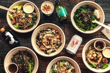 Palm Greens plant-based residency pops up in King's Cross Square