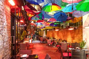 Bala Baya in Southwark is bossing the winter alfresco game with its umbrella terrace