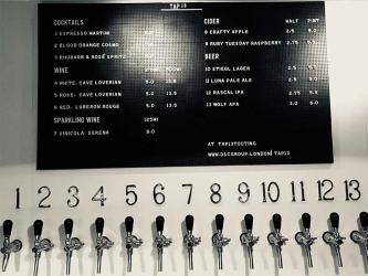 Tap13 serves up cocktails, wines and beers on tap in Tooting Broadway Market