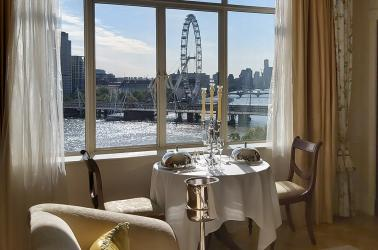 Now you can book a riverside suite at The Savoy - just for dinner