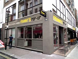 Fastest pop-up in the West as Franny's opens on Frith Street