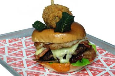 Psychic Burger launch pig laden burger