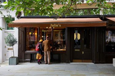 Julie's Restaurant  in Holland Park is reopening with Shay Cooper as chef