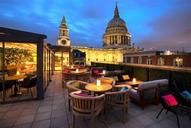 Sabine is a new rooftop bar overlooking St Paul's