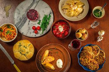 Ukrainian restaurant Pampushka is popping up at Soho's Sun and 13 Cantons
