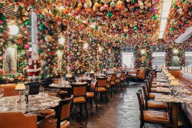 34 restaurant in Mayfair goes OTT on the Christmas decorations