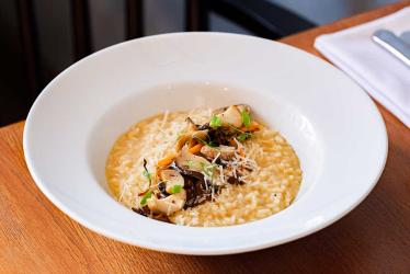 Bryn Williams at Somerset House is serving up zero food mile mushroom dishes